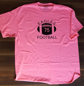 GO PINK!!! Northeast Number Football T Shirts