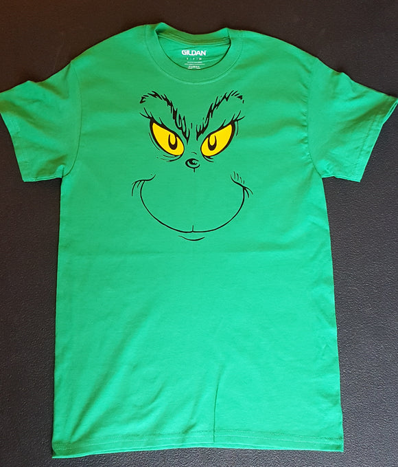Grinch Head T Shirt