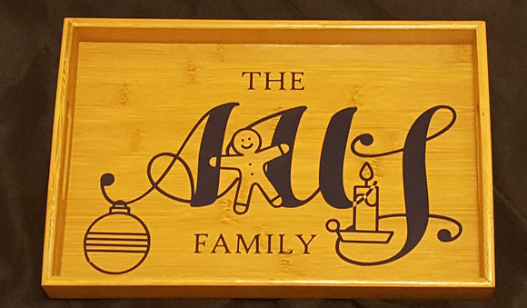 Custom Family Serving Tray