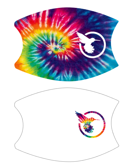 SBSI20 - Facecover Combo - White with Tye Dye SB Logo AND Tye Dye with White SB Logo