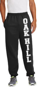 OHES - OAK HILL VERTICAL Black Sweat Pants (Youth and Adult)