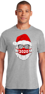 Santa with Mask - Christmas Shirt