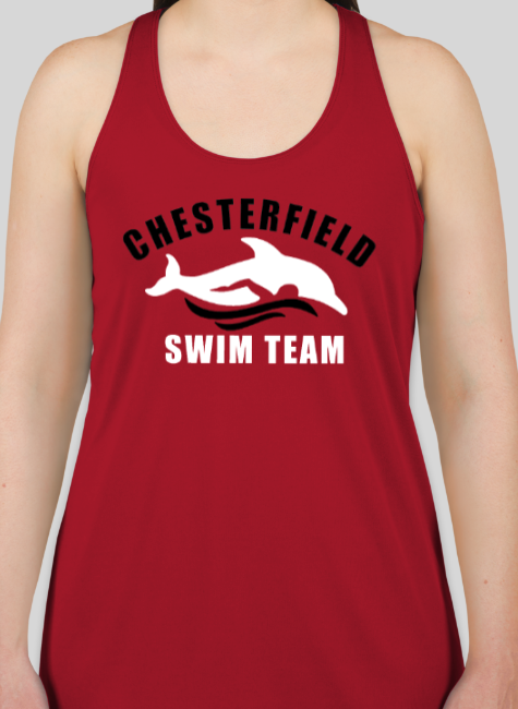 Chesterfield Swim Team Shirts - Ladies Racer Back Tank Tops