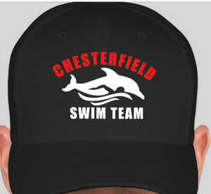 Chesterfield Swim Team Hats - Flex Fit - Embroidered