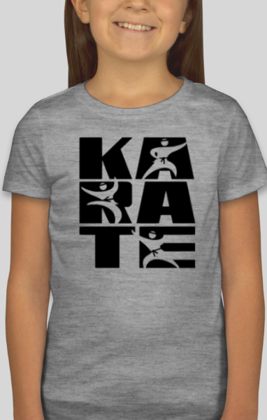 Karate Block Letter T Shirt