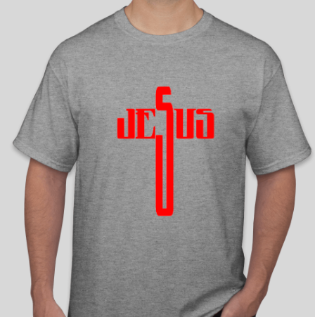 JESUS LETTERING CROSS
