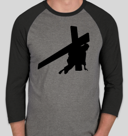 Jesus Carrying the Cross Raglan T Shirt