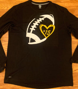 2019 NHS Football Love shirt long sleeve
