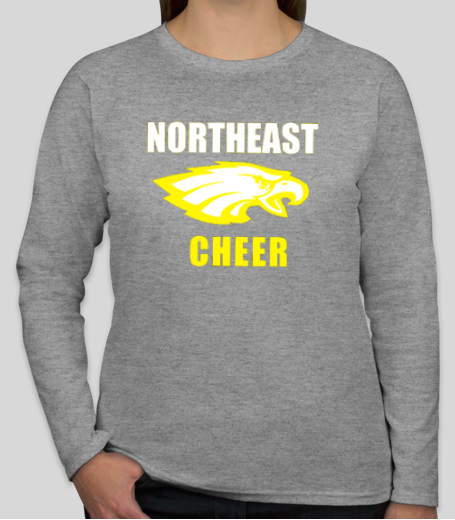 Northeast Cheer long sleeve shirt - Grey