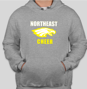Northeast Cheerleading Sweatshirt Grey