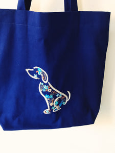 Cobalt market bag, dog lover, cat lady, diaper bag, cat lady present, dog mom present, gift that gives back, Holiday 2019, sister in law present