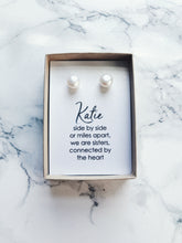 Ivory pearl stud earrings, fresh water pearls, real natural pearl studs, gift for her
