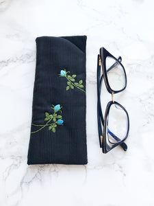 Eyeglass case, Padded Sunglass Case, Flower Eye Glass Holder, Soft Glasses Pouch, Accessories, Best Friend Gift, Gift for Her, Sunglasses