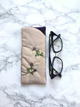 Eyeglass case, Padded Sunglass Case, Purple Flower Eye Glass Holder, Soft Glasses Pouch, Accessories, Best Friend Gift, Gift for Her, Sunglasses