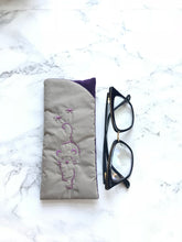Eyeglass case, Padded Sunglass Case, Purple Cat Eye Glass Holder, Soft Glasses Pouch, Accessories, Best Friend Gift, Gift for Her, Sunglasses
