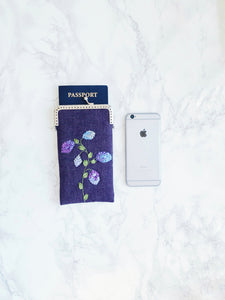 Passport holder, travel wallet, crossbody bag