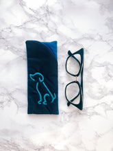 Eyeglass case, Padded Sunglass Case, Dog Eye Glass Holder, Soft Glasses Pouch, eyeglass case holder, Gift for Her, Dog mom present
