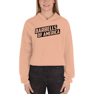 Women's Barbells Of America Knockout Crop Hoodie