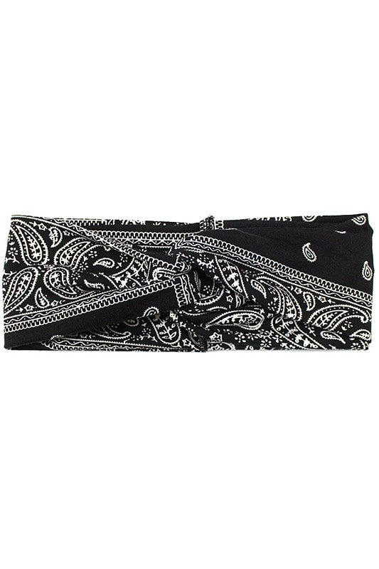 Bandanna knotted head band
