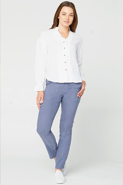 Lettuce Edge Blouse - White
