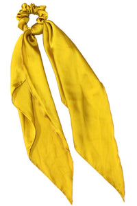 Mustard Scrunchie with Silk Scarf