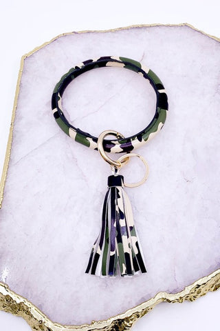 Key Chain Bangle with Tassel