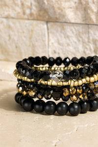 Four Layered Stretch Bracelet Set