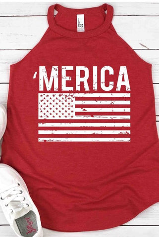 'Merica flag graphic tank