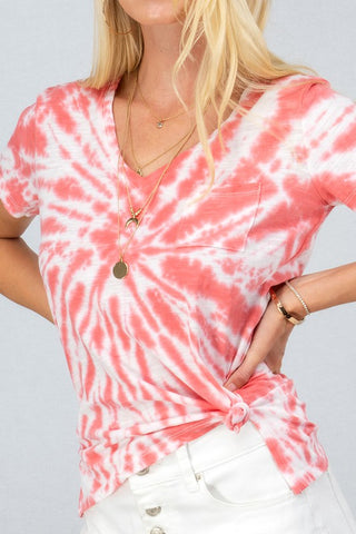 TIE DYE SHORT SLEEVE TOP
