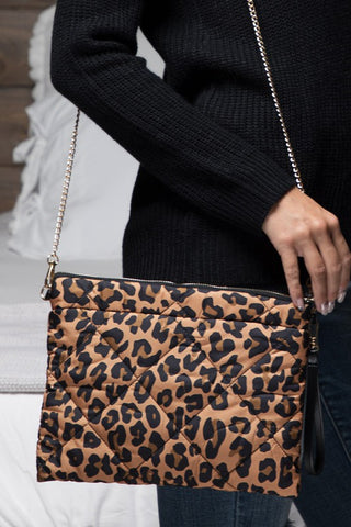 Animal Print Puffer Cross Body Bag