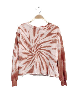 TWIST TIE DYE ROW EDGE CROP