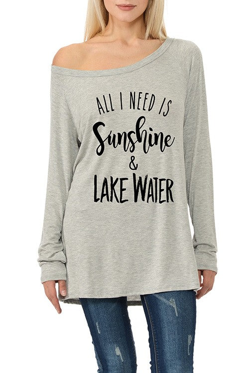 SUNSHINE & LAKE WATER Long Sleeve