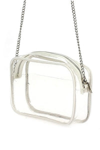 Clear Stadium Messenger Bag - White