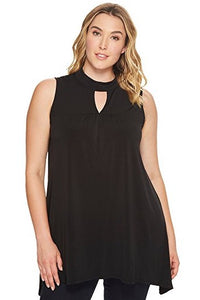 London Times Plus Size Gigi Neck Tunic