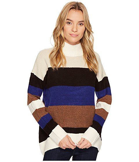 ROMEO & JULIET COUTURE Striped Turtleneck Sweater
