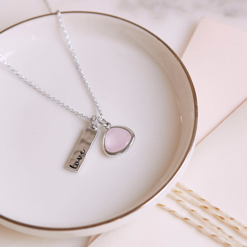 Chloe + Isabel 'Love' Charm Necklace