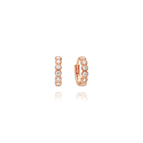 Chloe + Isabel Petits Bijoux Hinged Hoop Earrings - Rose Gold