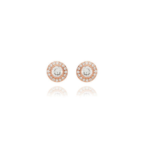 Chloe + Isabel Petits Bijoux Convertible Circle Studs (Rose Gold)