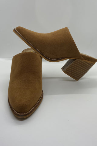 Whiskey Suede Mules