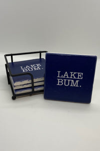 Lake Bum Stone Coaster Gift Set