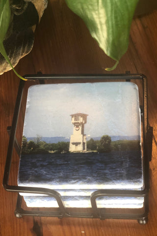 HSB Lighthouse Stone Coaster Gift Set