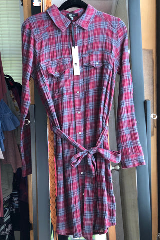 KUT from the Kloth Ella Plaid Shirt Dress