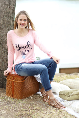 BEACH PLEASE Long Sleeve