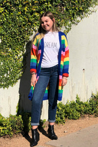 RAINBOW SWEATER OPEN CARDIGAN