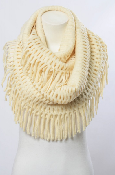 Chenille Tassel Infinity Scarves (Variety of Colors)