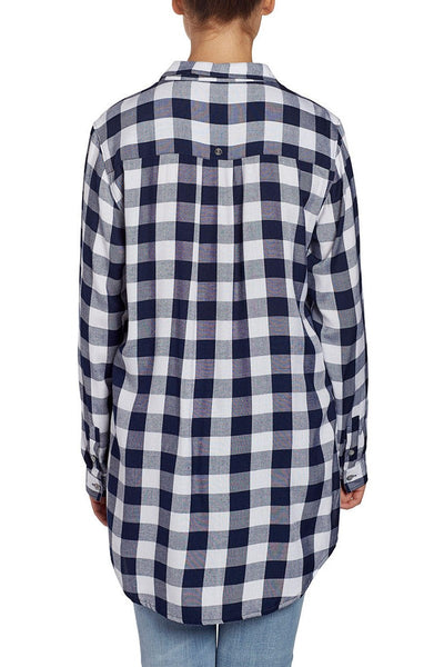 JAG Jeans Magnolia Tunic in Rayon Plaid (Sailor Plaid)