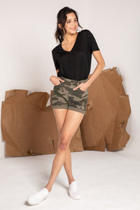 Ruel Super High Rise Camo Shorts