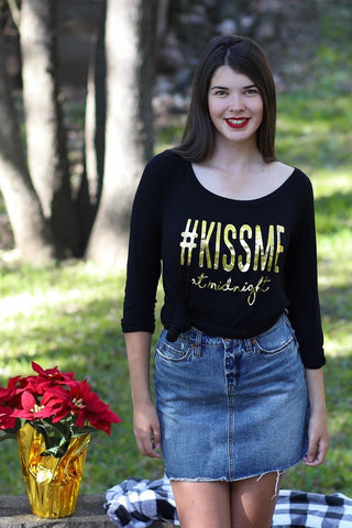 KISS ME - Wide Neck