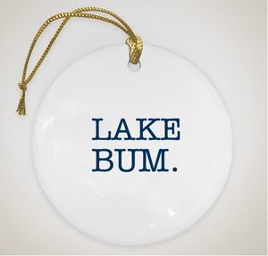 Lake Bum Christmas Ornament