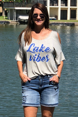 LAKE VIBES Cold Shoulder
